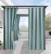 Simple Full Blackout Solid Color Fine Linen Blackout Waterproof Sunscreen Heat Insulation Curtain