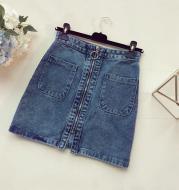 Denim Skirt Female Spring And Summer New Ins High Waist Chic Bag Hip Skirt Half-length Skirt Summer