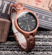 Wooden Luminous Quartz Watch