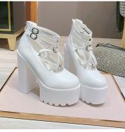 Model All-Match Single Shoes 15CM New Female High-Heeled Platform