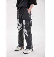 Multi-pocket Zipper Patch Men's Trousers Silhouette Casual Pants