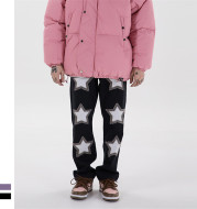 Retro Trendy Bottoms Fringed Punk Star Punk Jeans