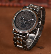 Men's Wooden Watch Miyota Movement Solid Wood Watch