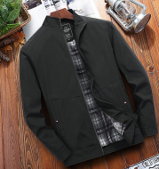 Men'S Loose Middle-Aged And Elderly Spring And Autumn Thin Coat Father'S Autumn Clothes