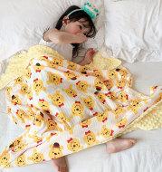Children's Cartoon Cotton Beanie Blanket Stroller Blanket Air Conditioning Blanket