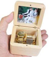 Wooden DIY Photo Music Box Children Birthday Gift Music Box