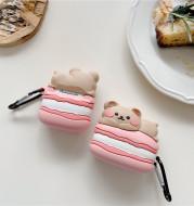 Macaron Cake Bear Earphone Box