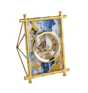 European Style Living Room Bedroom Desktop Electronic Silent Metal Clock And Watch Model Room Soft-Covered Clock Accessories