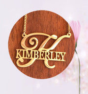 Lnitial Name Stainless Steel Necklace Female Personality Customization