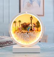 Immortal Flower Table Lamp Decoration Home Bedroom Living Room Desktop Decoration