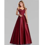 V-Neck Solid Color Long Vintage Gown Dress