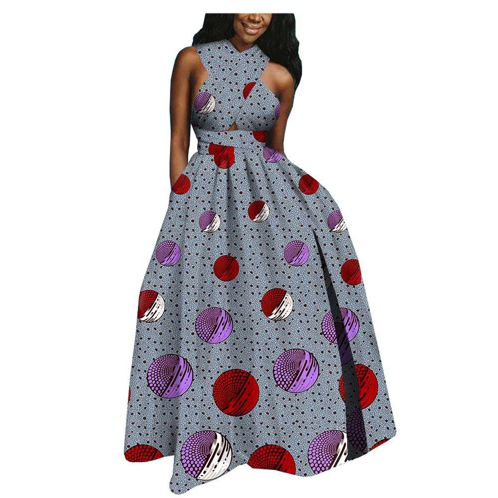 Jolie Robe africain en batik de coton
