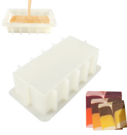 Silicone Thickened Soap Mold Handmade Soap Mold Rectangular Silicone Toast Mold Does Not Upset 1200ML Direct Sales
