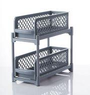 2 Tier Sliding Cabinet Basket Organizer Drawer Mesh Storage Organizer