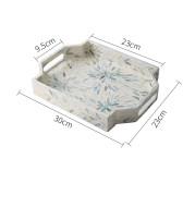 Household Storage Tray Creative Shell Rectangular Storage Tray Decorative Photography Swing Plate