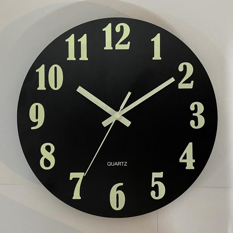 Glow In The Dark Wooden Wall Clock 11