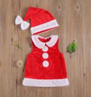 Christmas Vest Skirt 2-piece Set