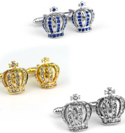 Classic Diamond Crown Shape Cufflinks French Cufflinks Cufflinks