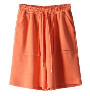 Letter Five Pants Women Korean Style Loose Straight-leg Hong Kong-style Sports Casual Beach Pants
