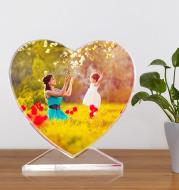 Custom Crystal Photo Laser Love Photo Frame Photo Engraving
