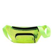 Trendy Fluorescent Pvc Transparent Running Waist Bag Personality Ins Net Red Chest Bag Messenger Chest Bag