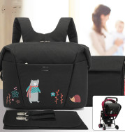Cartoon Double Shoulder Mother And Baby Bag Set