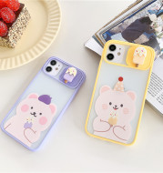 Cartoon Camera Protective Case for IPhone, Cartoon Soft Mobile Phone Protector For iPhone 12 11 Pro Max 7 8 Plus SE 2020 X XR XS Max
