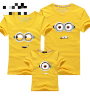 Family Wear, Family Wear, Family Wear, Pure Cotton, Round Neck Short-sleeved T-shirt, Group Class Service
