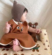 Ins Baby Cartoon Bear Embroidered Cotton Sleeping Bag For Men And Women
