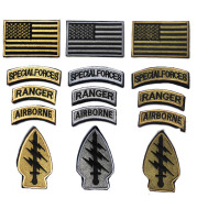 Lightning Qualification Badge, American Flag Embroidered Velcro Armband, Flag Patch Cloth Sticker