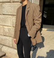 Mrcyc Spring New Korean Youth Plaid Blazer Trend Handsome Casual Suit Men''S Coat