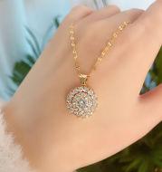 Diamond Pendant Short Clavicle Chain Net Celebrity Fashion