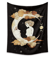 Moon Tapestry Home Decor Background Cloth Wall Hanging Tapestry