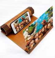 Mobile Phone Volume Magnifier Wood Grain 3D Mobile Phone Screen Magnifier HD