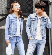 Slim fit Denim Jacket Men And Women Couple Jacket