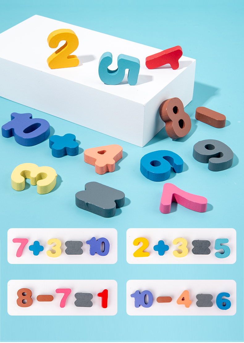 3D Wooden Montessori Alphabet Number Character Matching Board (7-in-1)
