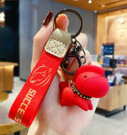 Creative Nordic Style Resin Pony Keychain Female Cute Cartoon Doll Key Chain Bag Pendant Couple Accessories