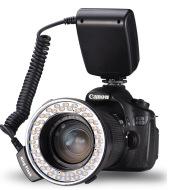 RF-550D LED Macro Ring Flash Camera Fill Light for Nikon Canon Sony SLR Cameras