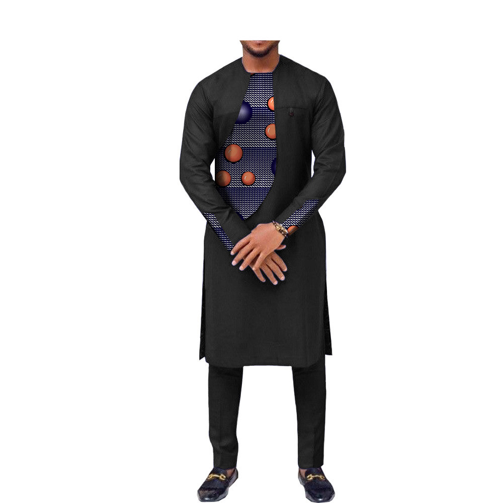 Costume africain 2 pièces slim homme fashion design