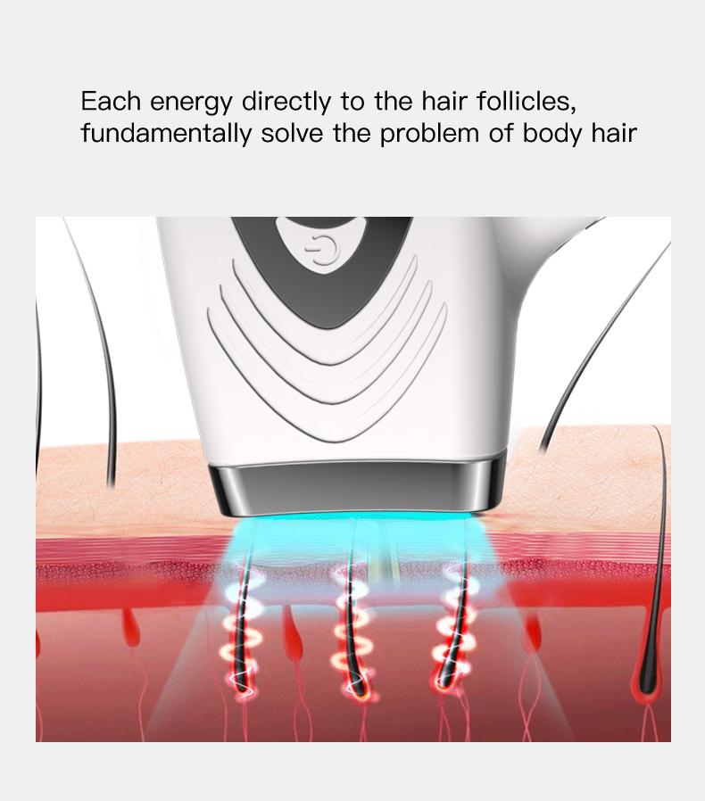 Professional Laser Electric Hair Epilator Permanent IPL Epilator Removal Body Facial Hair Remover