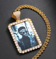 Custom Made Photo Squar Medallions Necklace