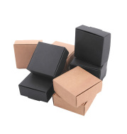 Kraft Paper Box Black Card Small Jewelry Paper Box
