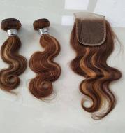 Real Hair Weave Piano Color Hair Block Body Wave Human Hair Bundle