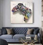 Hot Sale In Foreign Trade Graffiti Game Handle Game Hanging Painting Wall Mural Hd Inkjet Painting Core