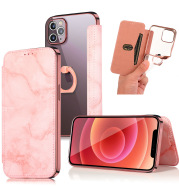 Apple Iphone12pro Ring Marble Mobile Phone Holster Mobile Phone Case Mobile Phone Case