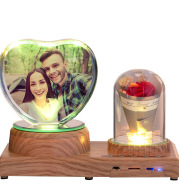 Personalized Photo Night Light Bluetooth Music Gift Box 3D Crystal Inner Carving Gift