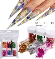 European And American Thin Color Double-Sided Foil Paper Nail Color Foil Fragment Tool Set