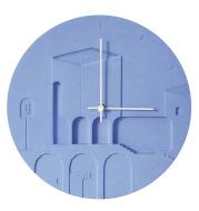 No Non Creative Cement Wall Clock Nordic Fashion Personality