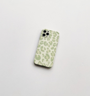 Green Leopard Print Suitable For IPhone11 Apple 12Pro Max Mobile Phone Shell X Xr Soft Shell Xsmax All-inclusive 7 Anti-fall 8plus Niche Style Se Female Mini Silicone Protective Cover Japanese And Kor
