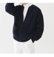 Men's Korean Version Of The Trend Of Solid Color Round Neck Sweater Loose Casual Lazy Style